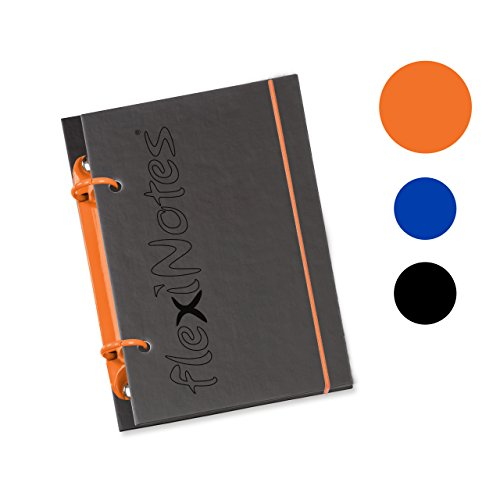 Schaar-Design flexiNotes NOTIZBUCH A6 nachfüllbar mit Register, Collegeblock + Ringbuch vereint...