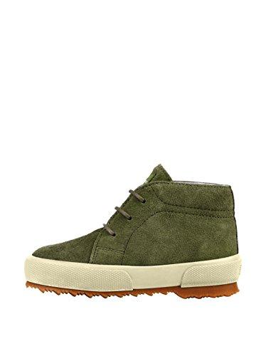 Superga 2175 Asuej Lacets, Chaussures montantes garçon Military Green
