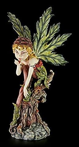 Pixie Elfen Figur mit kleinem Käfer - Elfenfigur Elfe Fee Fairy Deko