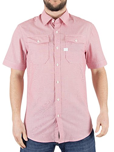G-Star Herren Landoh Slim Fit Shirt, Rosa Rosa