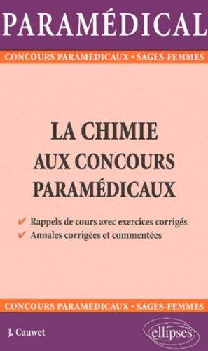 La chimie aux concours paramédicaux