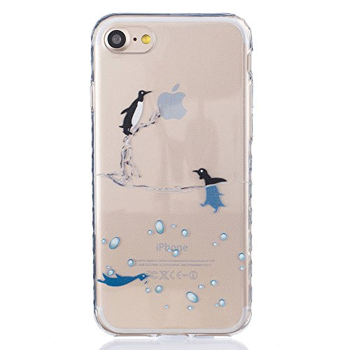 Ooboom® iPhone 8/iPhone 7 Hülle TPU Silikon Gel Handy Tasche Case Cover Flexibel Ultra Dünn für iPhone 8/iPhone 7 - Pinguin Pinguin