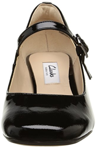 Clarks Chinaberry Pop Damen Pumps Schwarz (Black Pat)