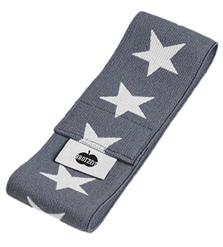 Brotzeit- Band Stretchband Lunchbox Brotdose mit Sternen, Grau