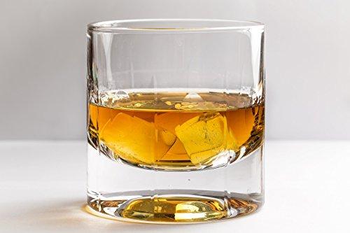 Kristall-dekanter Kleine (Altmodische Doppel Whiskey Brille, Mount Jones Scotch Gläser von Mayfair Hills - Satz von 2. Authentisch, echt elegant, Spülmaschinen sicher, Glas Schnaps oder Bourbon-Tumbler. Pramie-Ultra Clarity Glaswaren)