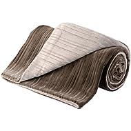 IMETEC Relaxy IntelliSense TH-02 - Manta eléctrica sofá, 150 W, microfibra, 140 x 180 cm, color marrón y beige