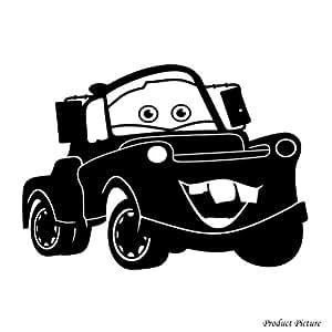 Voiture, voitures Disney Cars, animation Disney-En voiture, Car, Machine, Machines, Taille :  39 cm x 28 cm-Couleur 18 couleurs au choix disponibles pour chambre, salle de bain, chambre d'enfants, autocollant de voiture, fenêtres et vinyle-Sticker mural fenêtre Art Decals Sticker vinyle-ThatVinylPlace, Décoration