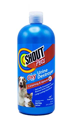 Shout for Pets Turbo Oxy Urine Destroyer   Carpet Cleaner and Pet Odor Eliminator in Fresh