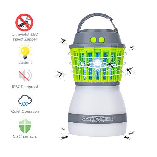 SGODDE 2 in 1 Campinglampe Mückenkiller, USB Wiederaufladbar Moskito Mörder Lampe, IP67 Wasserdichter Anti-Moskito LED Latern, 2000mAh Tragbare Zeltlampe für Innen- und Außeneinsatz