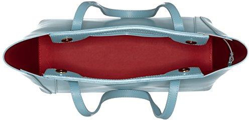 Chicca Borse Damen 8610 Schultertasche, 40x38x14 cm Turchese (Marina)