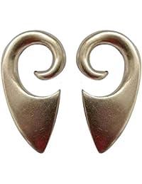 Pesos de oreja de pareja plateados plata para lóbulos estirados - Dos pendientes dilataciones orejas - Earrings…