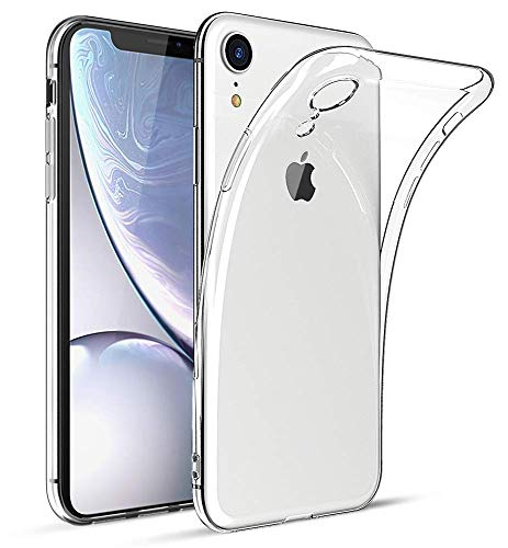 iPhone XR Case, Garegce Transparent Clear Ultra Slim Silicone Gel Case Cover, Soft Flexible TPU Crystal Case Skin, Thin Protective Case for iPhone XR (2018) 6.1 inch - Transparent