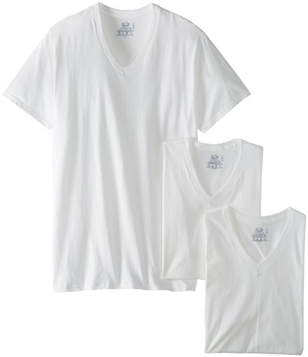 White Fruit of the Loom Men/'s 3-Pack Tall Size Crew-Neck T-Shirt XLT