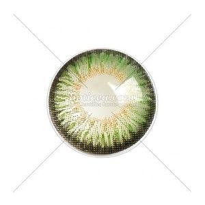 Farbige Kontaktlinsen ohne Stärke, Farbe: geheimnisvolles Grün