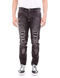 Philipp Plein Hombre MDT0991PDE004N02WW Negro Algodon Jeans