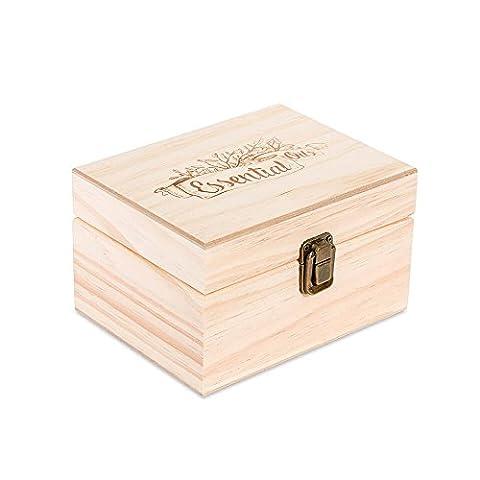 12 Count (Essential Logo Oil) Essential Oil en bois Organisateur Boîte de rangement (30 ml