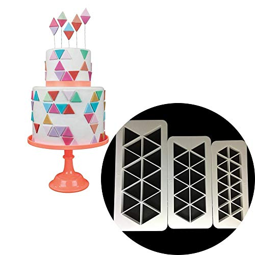 Classic Quartz - 3pcs Set Equilateral Triangle Shaped Plastic Fondant Cookie Cutter Cake Decorating Biscuits - Letters Shape Heart Shapes Healthy Rectangle Metal Decorating Lamb Number Sets Rin Heart Shaped Cookie Pan