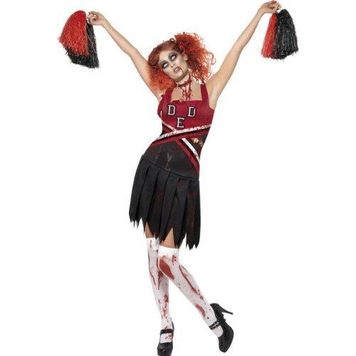 Halloween Damen Kostüm Zombie Cheerleader blutig Horror Größe M (Horror Kostüm Cheerleader)