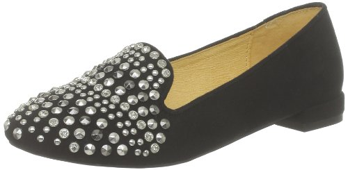 Buffalo London 211-1170-47 IMI SUEDE 144558 Damen Slipper, Schwarz (BLACK615), EU 37
