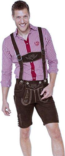 kurze Ziegenvelour Lederhose Bertl von MarJo, Größe:50;Farben:altsalzburg