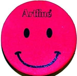 artline whiteboard schwamm magnetisch rund mit smiley gesicht rosa b robedarf. Black Bedroom Furniture Sets. Home Design Ideas