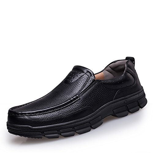 Shoes Black Sole Rubber Casual Penny Work Minitoo Walking Loafers Sqp0H4vwx