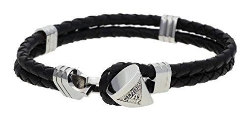 guess-herren-armband-ocean-tripe-edelstahl-leder-braun-silber-one-size
