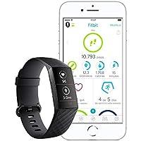 Fitbit Charge 3 - Pulsera avanzada de salud y actividad física,Negro / Aluminio Color Grafito