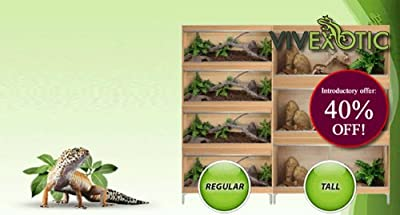 Vivexotic Repti-Home Vivarium Large - Walnut by Vivexotic