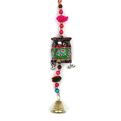 OWL Gifts-Fair Trade porta a forma di gufo con campanello Ethical radici Gifts-realizzata a mano e eticamente - Owl Pace