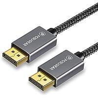 Cable Displayport a Displayport 2M, POSUGEAR Cable DP Macho a DP Macho Cable de Velocidad de Audio Soporta Resolución de hasta 4K 60Hz/ 3D para HDTV, Proyectores y Monitores