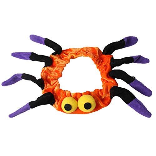 LCWYP Haustier Halloween Halloween Spinne Hund Katze Schal Kragen Haustier Schalldämpfer Für Yokie Teddy Lustige Katze Cosplay Kostüme Zubehör (Hunde Halloween Kragen Kostüm)