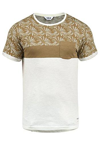 !Solid Florian Herren T-Shirt Kurzarm Shirt Rundhals-Ausschnitt Aus 100% Baumwolle Meliert, Größe:XL, Farbe:Ermine (5944) (Baumwoll-t-shirt Weiches)