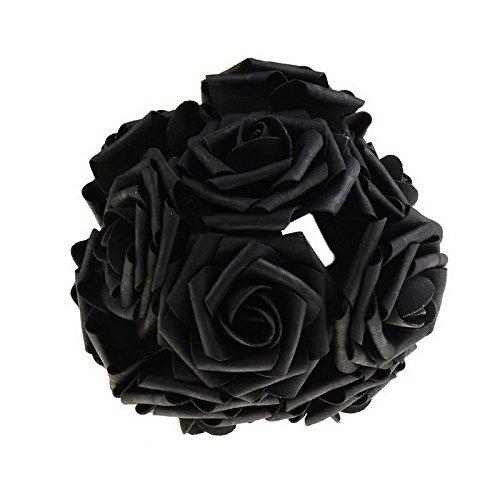 m Künstliche Rose Blumen Dekoration Seide Mittelstücke Mint Dekorative Anhänger Blume P20, Schwarz (Türkis-mittelstücke)