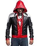 The Dark Knight Batman Arkham Red Hood mit Weste Lederjacke (XL)