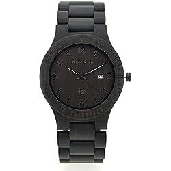 Wristwatch Wooden Quartz Watch Round Dial Analog Hot sale Discount Watch Ebony Black Amazing Perfect Accessory