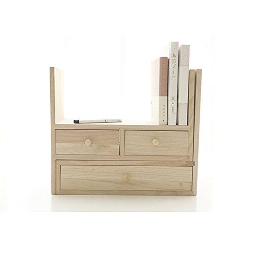 HYLR japanische Stil kreative woodydesktop kleine Bücherregale Ablage Rack Buch Regal, Speicher...