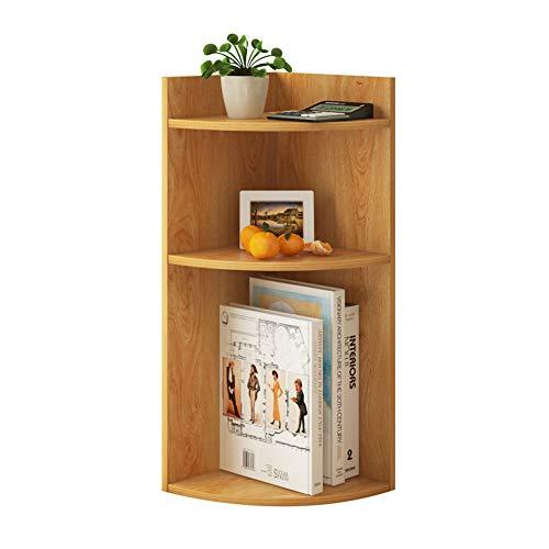 ZW-household 3 Tier Holz Bücherregal Regal Racks Desktop Organizer Ständer Halter Display Rack Bücherregal für Heim und Büro -