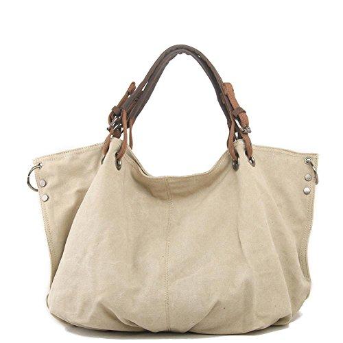 Europa und die Vereinigten Staaten Männer und Frauen Leinentasche Retro Tasche Handtaschen Außenhandel Mode Freizeit Paket meters white