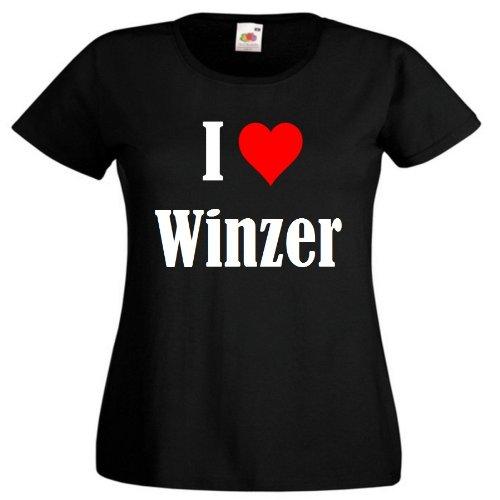 """T-Shirt """"I Love Winzer"""" für Damen Herren und Kinder ... in der Farbe Schwarz Schwarz"""