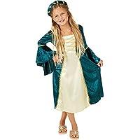 Il costume da principessa orientale per bambina è composto da pantaloni stile harem, una parte superiore corta e un fantastico copricapo con velo. Il costume è realizzato in satin e chiffon. Inoltre ha delle carine guarnizioni dorate. Materia...