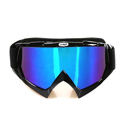 Kamiwwso Nachtbrillen Motorrad Winddicht Brillen Anti-UV-Brillen Outdoor-Brillen für Frauen Männer (Color : A)