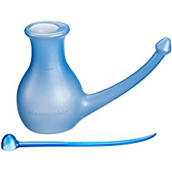 Scandinavian Yoga and Meditation School Nosebuddy - Botella para limpieza de nariz azul azul