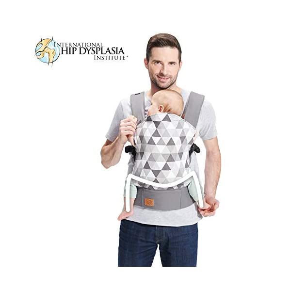 kk Kinderkraft Nino Ergonomic Baby Carrier Front Gray kk KinderKraft Thanks to a special, well-profiled layer, the baby's head does not tilt Ergonomic baby carrier for children aged from 3 months up to 20 kg The compact baby carrier can be folded to a small size and weighs only 0.39 kg 1