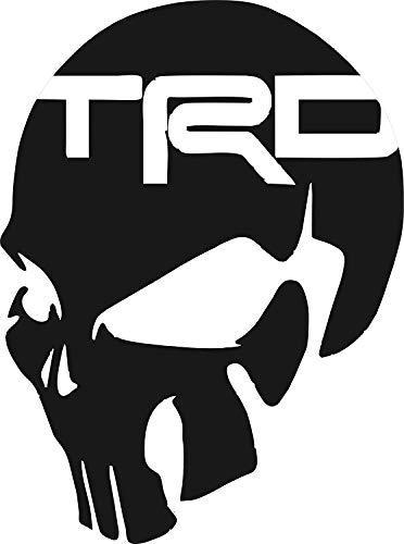 SUPERSTICKI Toyota TRD Skull Vinyl Decal 5.5
