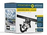 Weltmann AHK Komplettset Mercedes-Benz B-KLASSE W 246 Brink Schwenkbare Anhängerkupplung + fahrzeugspezifischer Jaeger Automotive Elektrosatz 13-polig