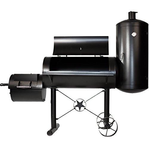 Premium Bbq Grill Smoker Rucherofen Grilllok Garen Xxl 212 X 172 X 80 Cm 105 Kg Transportrder Temperaturanzeige Stahlblech Lftungsklappen Rucherkammer Grillbox 100x47 Cm Feuerbox Ablageflche