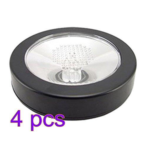 TXXCI LED Untersetzer Glasuntersetzer Untersetzer im Regenbogen Leuchtender Glasuntersetzer - schwarze Schale + weißes Licht - Schale Licht
