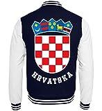 Kroatisches Wappen Hrvatska T-Shirt Kroatien Trikot Geschenk - College Sweatjacke