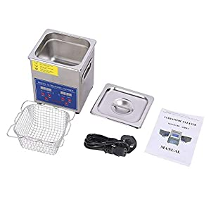2L Digital Ultrasonic Cleaner with Heater Stainless Steel Ultrasonic Cleaning Machine Digital Ultrasound Washer